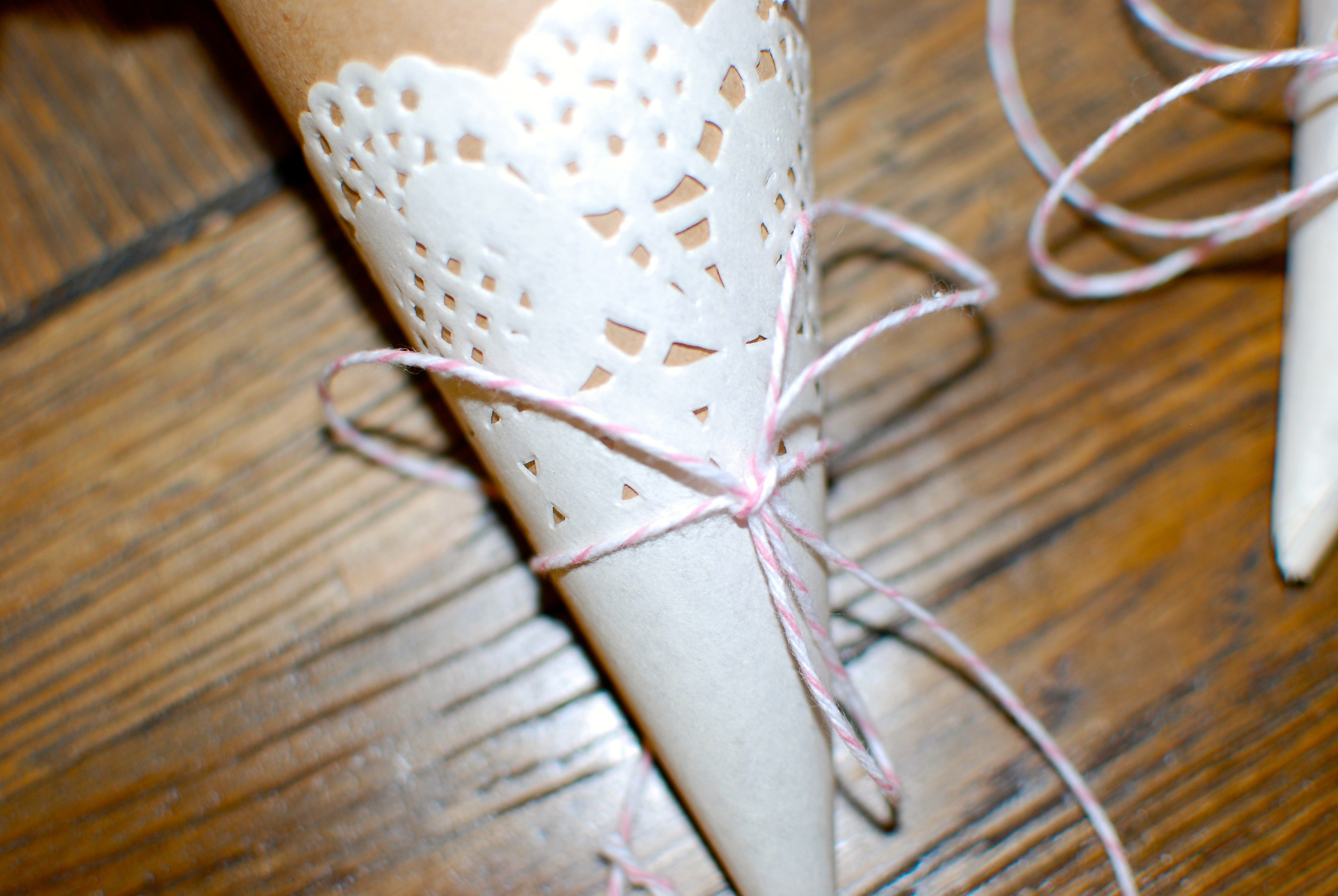 Pretty it up with some delicate bakers twine or ribbon