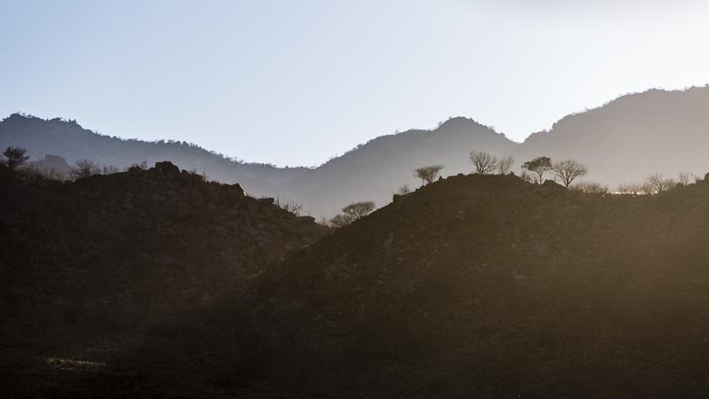 Early morning tones of the Mucuval Mountain Range.  Cunene Provence  ©24Atlantic
