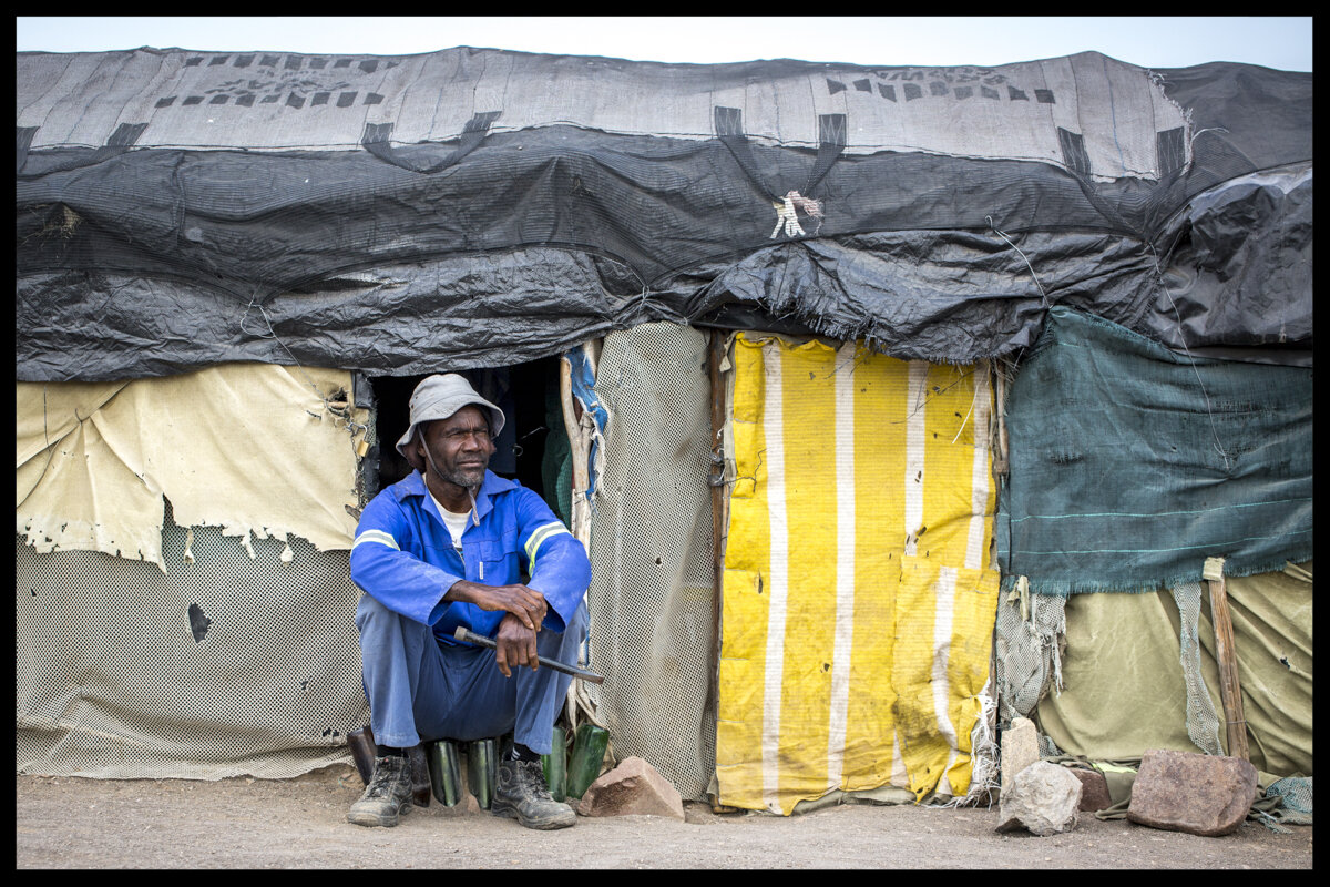 This is home away from home. Miners live for months away from their families while looking for their fortune.