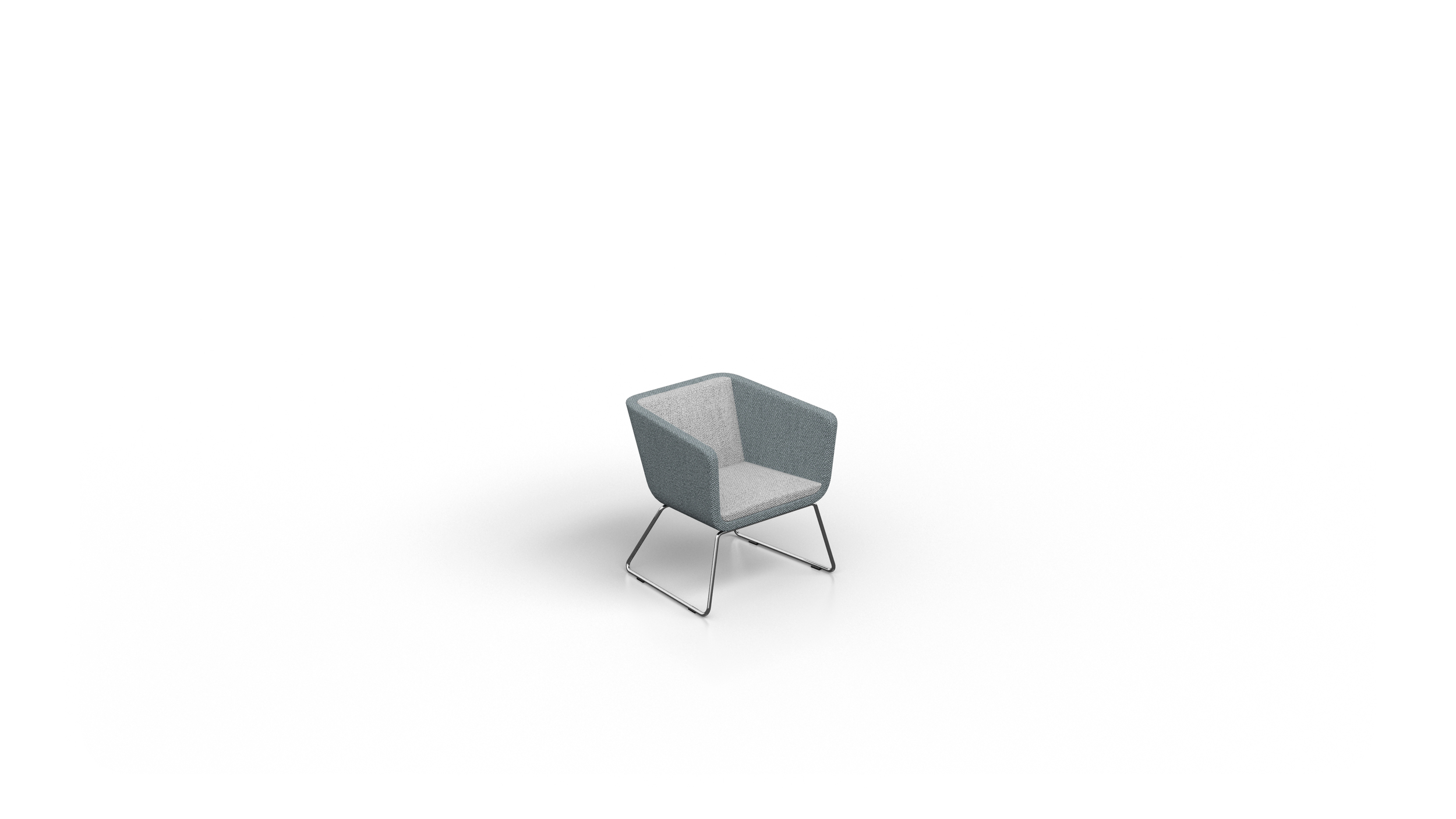 0162 CUBE VISITOR CHAIR