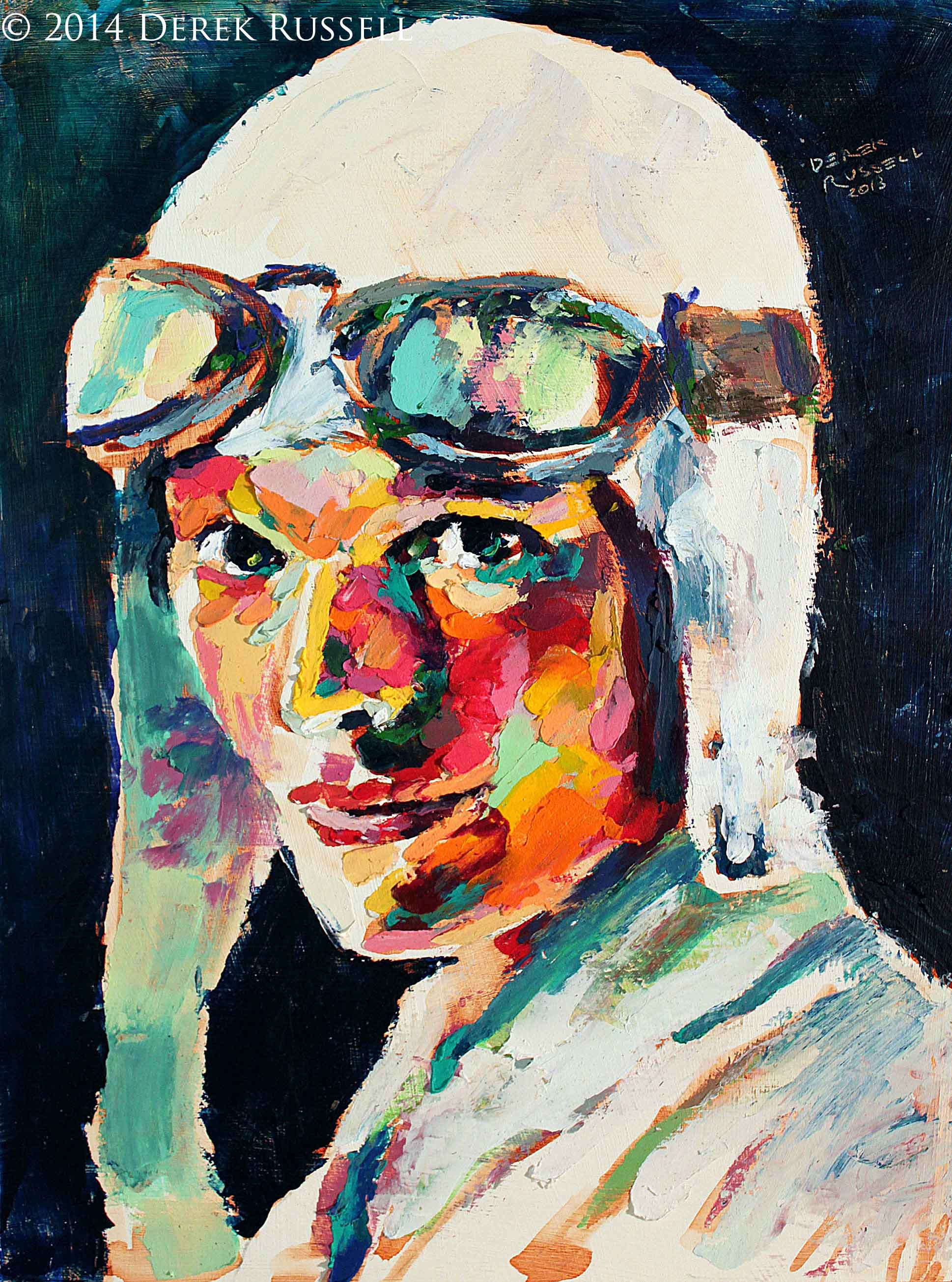 Original Fine Art Oil Portrait Painting by fine artist Derek Russell