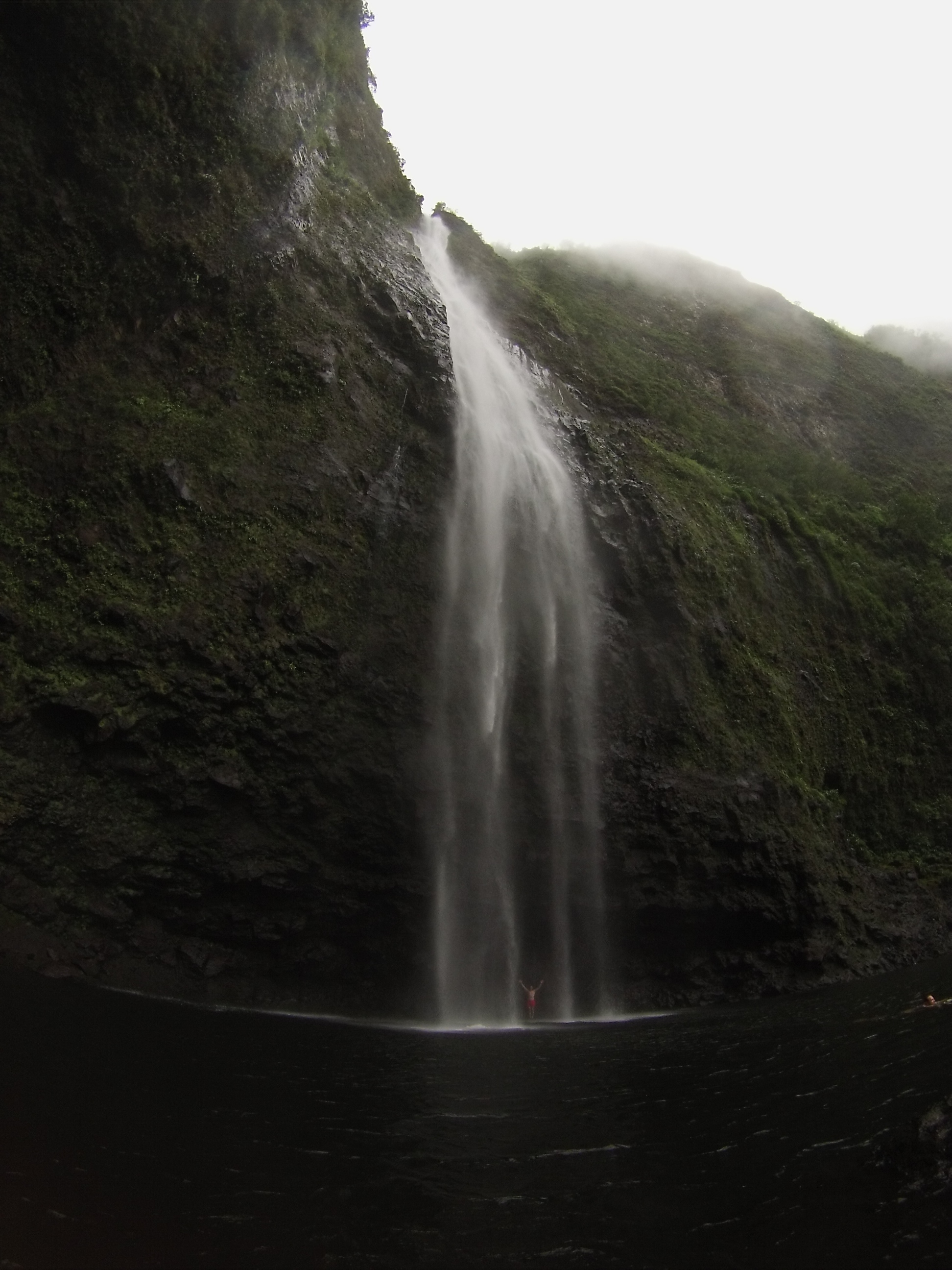That's me celebrating under a 1600' waterfall in Kauai. Life is Beautiful