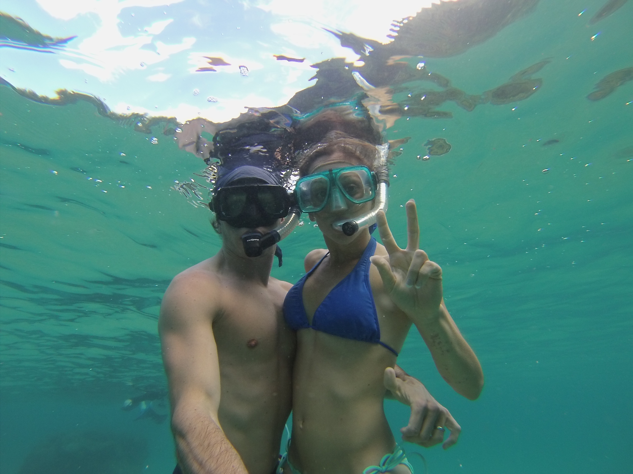 Livin' it up in the warm tropical waters of Hawaii!!