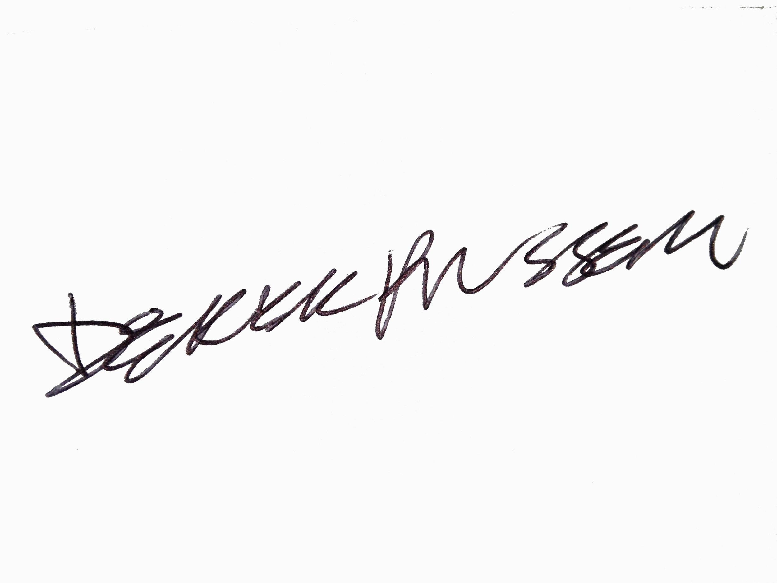 derek russell signature