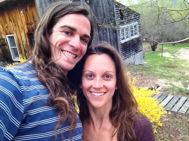 Derek Russell with wife at new art studio