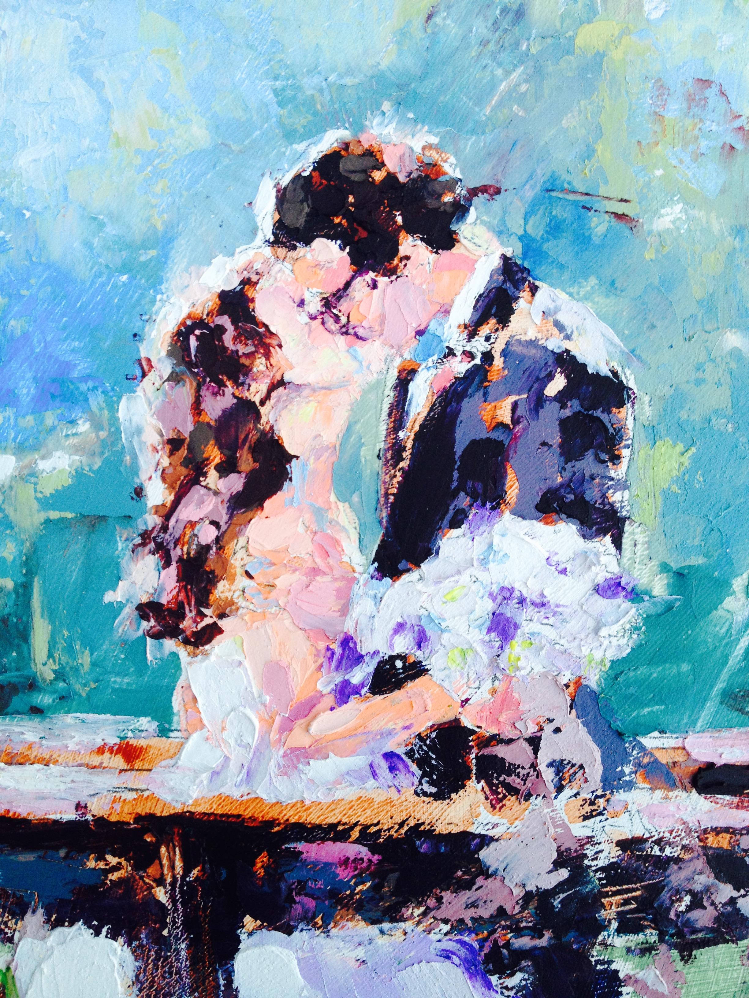 Lindsay & Stuart - Outdoor Wedding Painting, Bend, Oregon