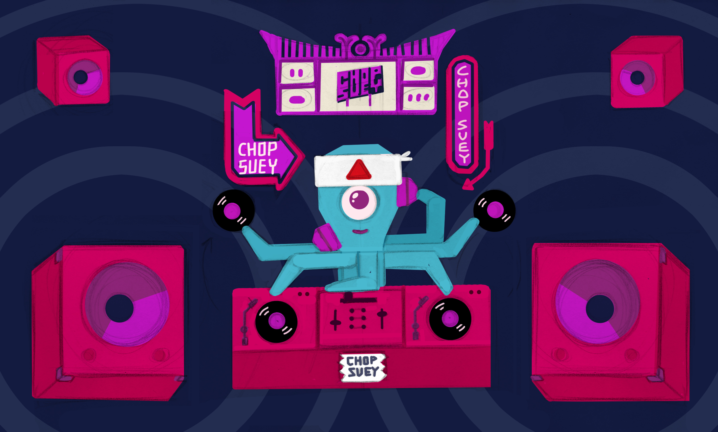 A concept for a music video we designed for DJ Yoda's awesome new track 'chop suey'