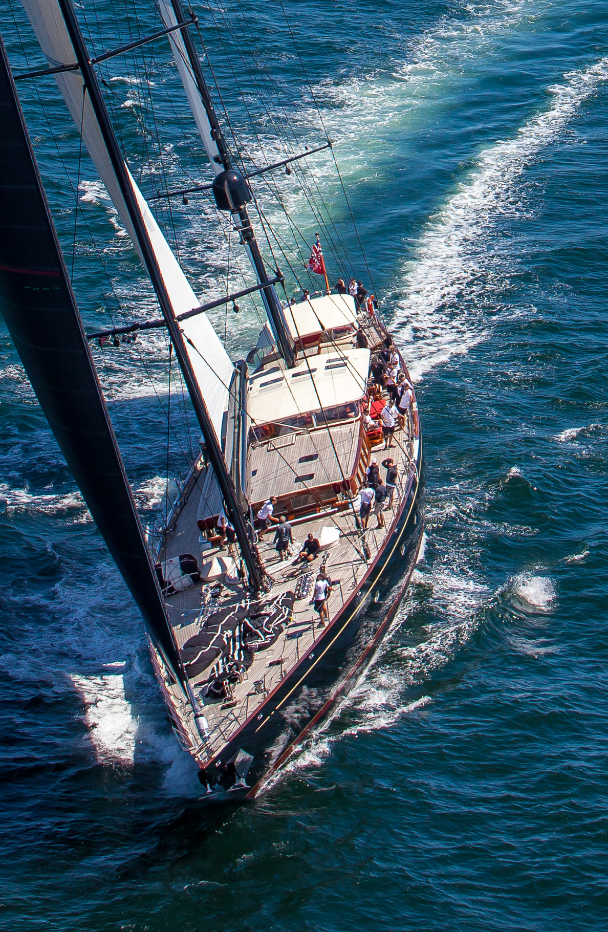 The S/Y Marie, under sail during the Shipyard Cup in Boothbay Harbor, Maine. Summer of 2013.