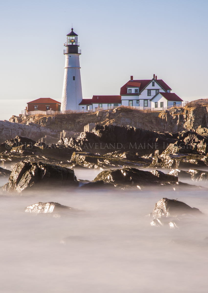 Using my 10 stop ND filter to achieve a 30 second exposure during the day time. Portland Head Light, Cape Elizabeth, Maine.