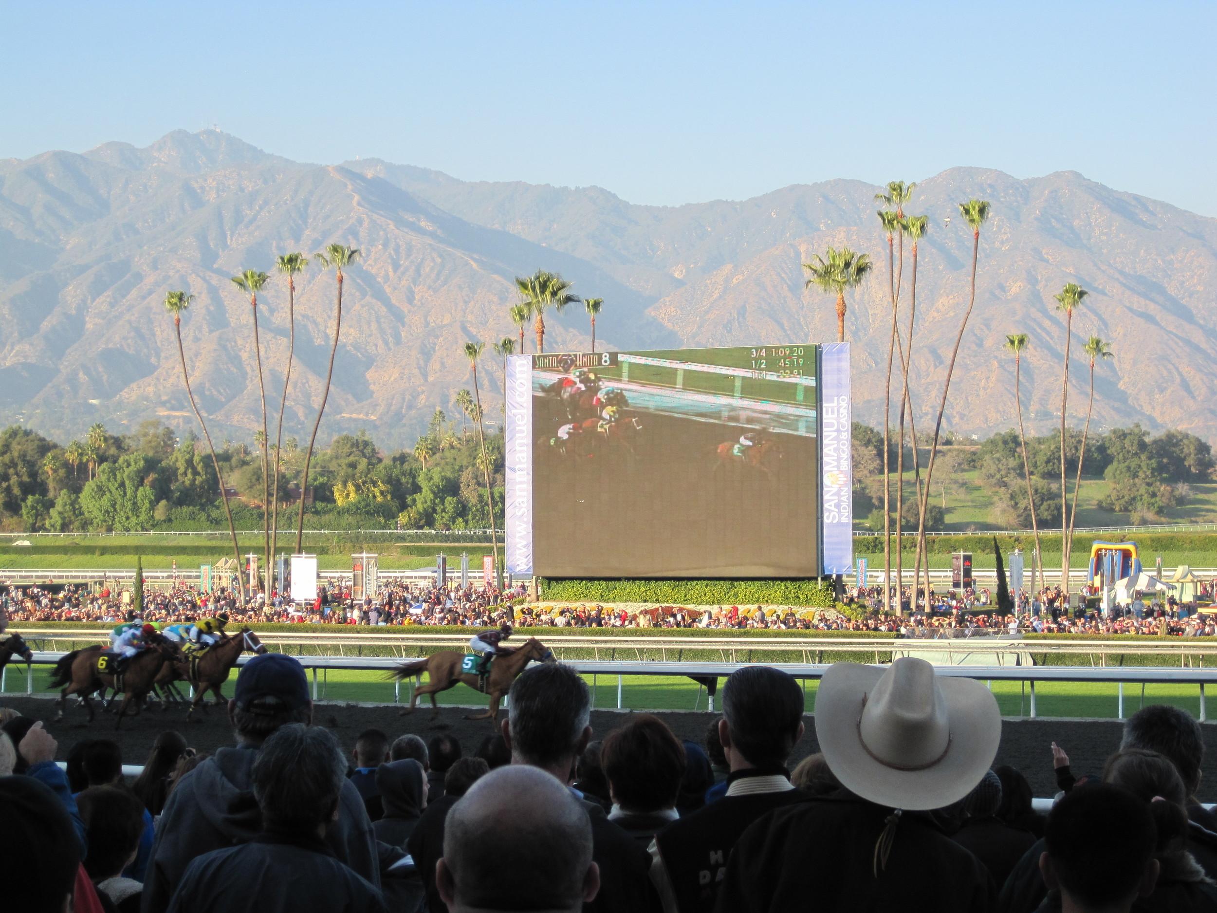 Santa Anita Racecourse, Los Angeles, California USA