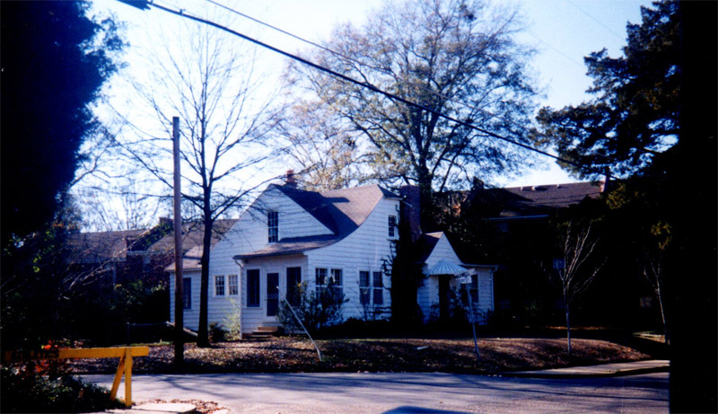 3. This white house on the corner is where 612 University Drive (home to Bin 612 and the District Salon) is now located