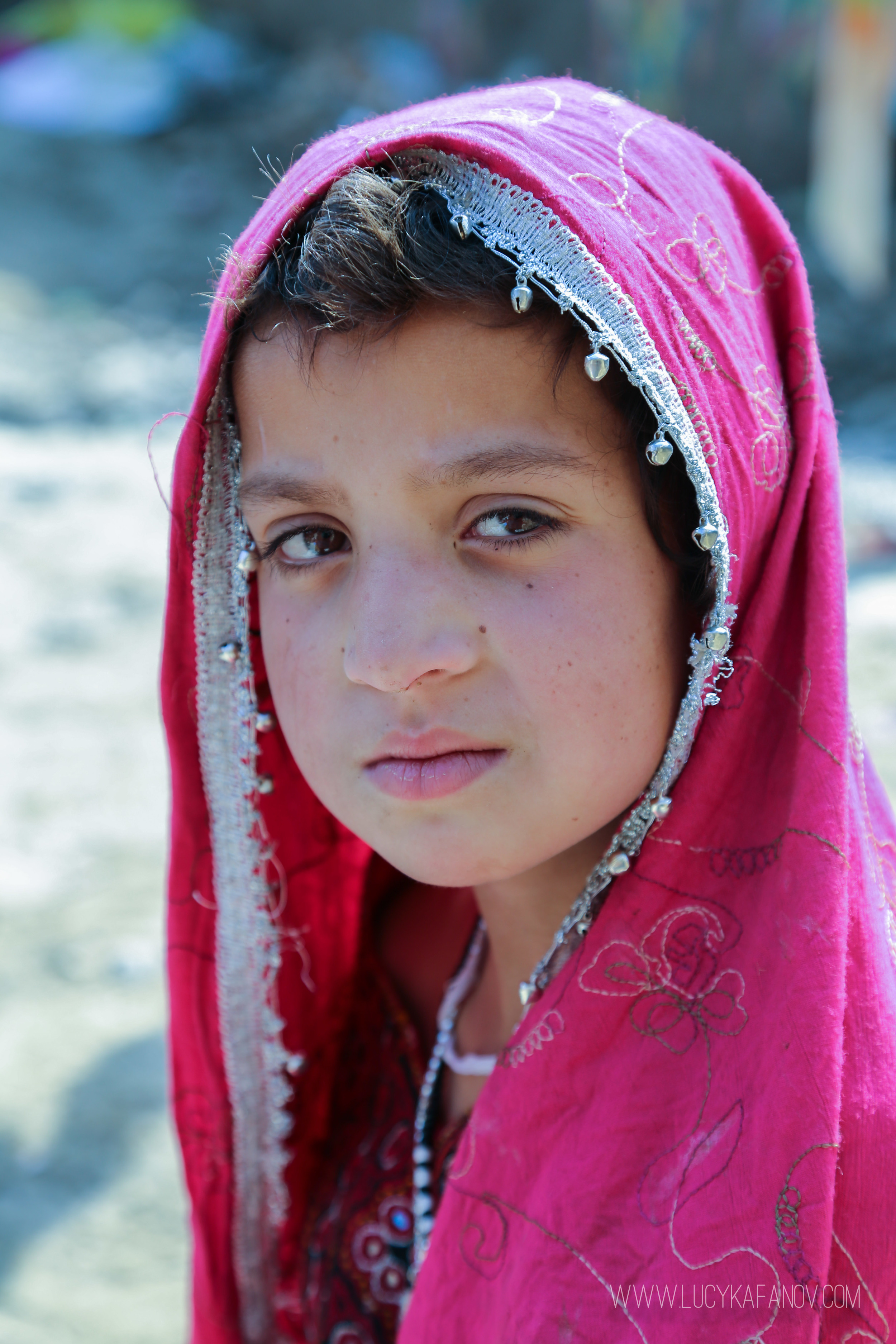 A young Afghan girl at a camp for Internally Displaced Persons.