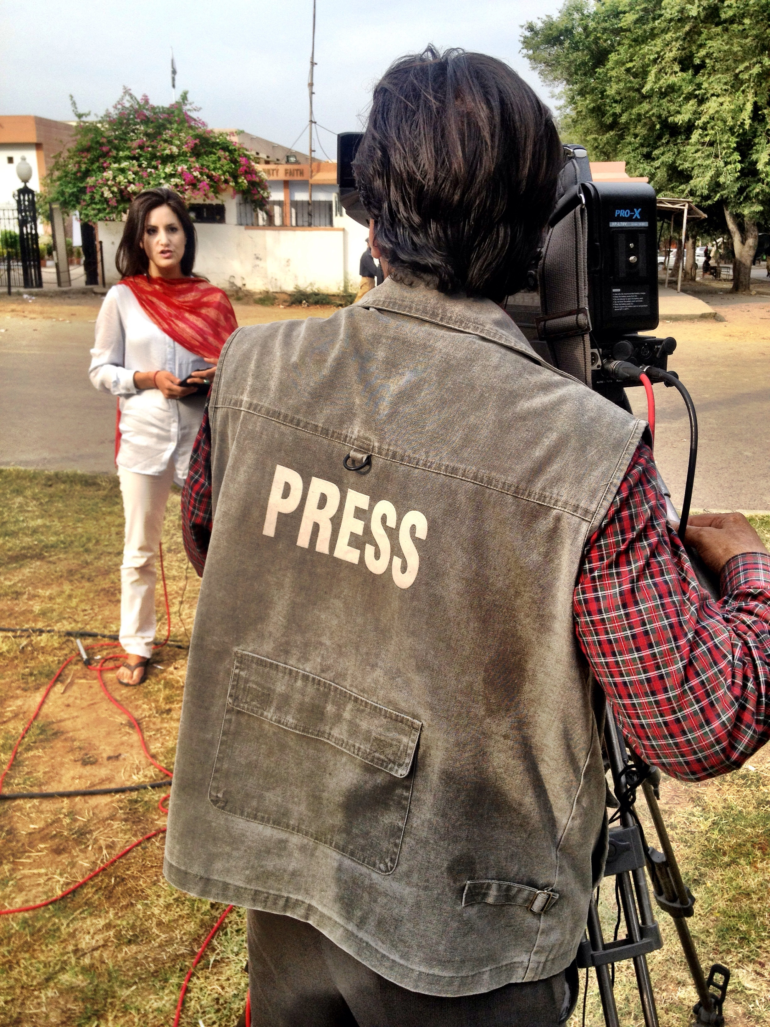 Lucy Kafanov reporting live from Islamabad