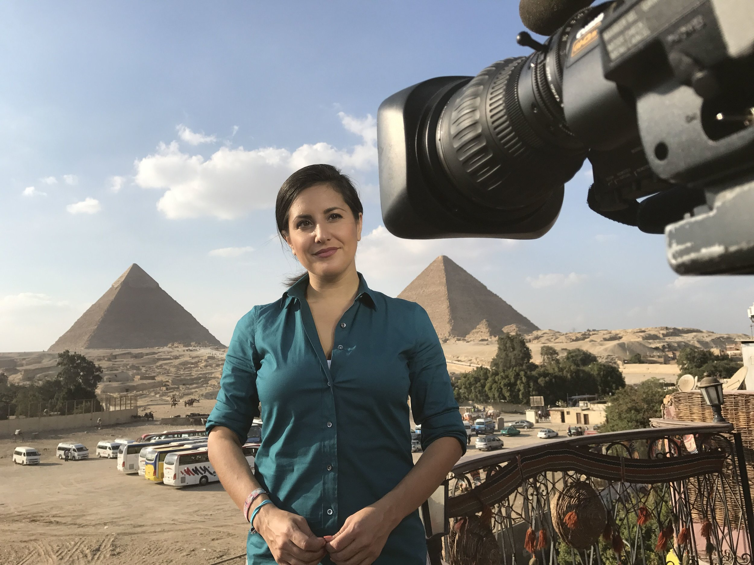 NBC's Lucy Kafanov in Cairo for the Today Show
