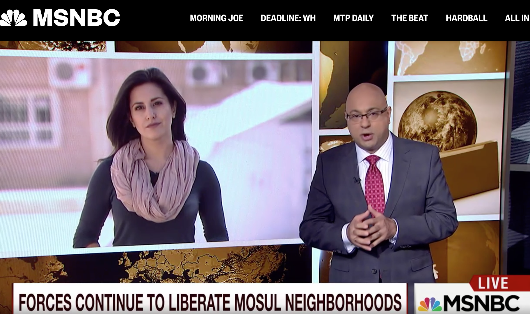 Lucy Kafanov on MSNBC from Iraq