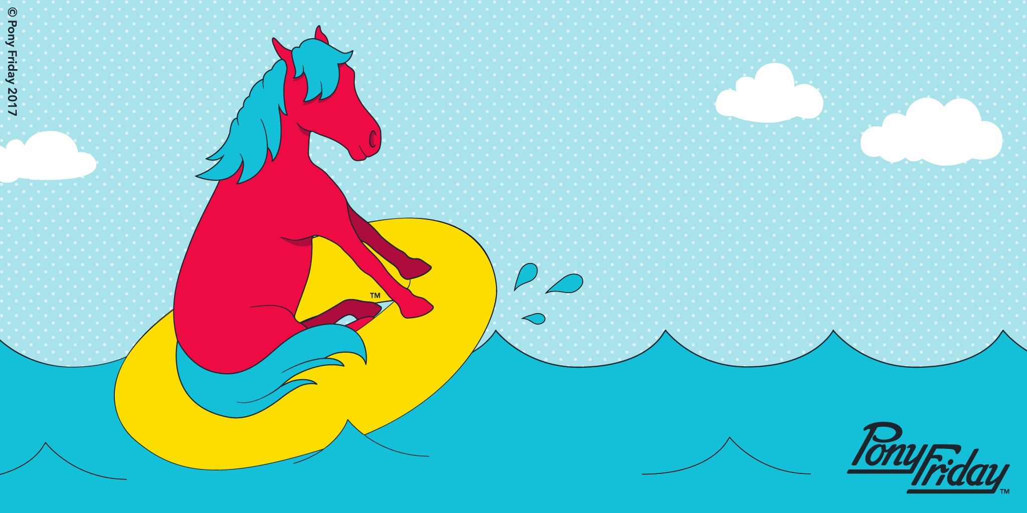 Pony-Friday-Water-Park-Pool-Fun-Splash-Summer-Clouds-Ocean-Innertube-Kicks-Blog-Post-Header-Image.png