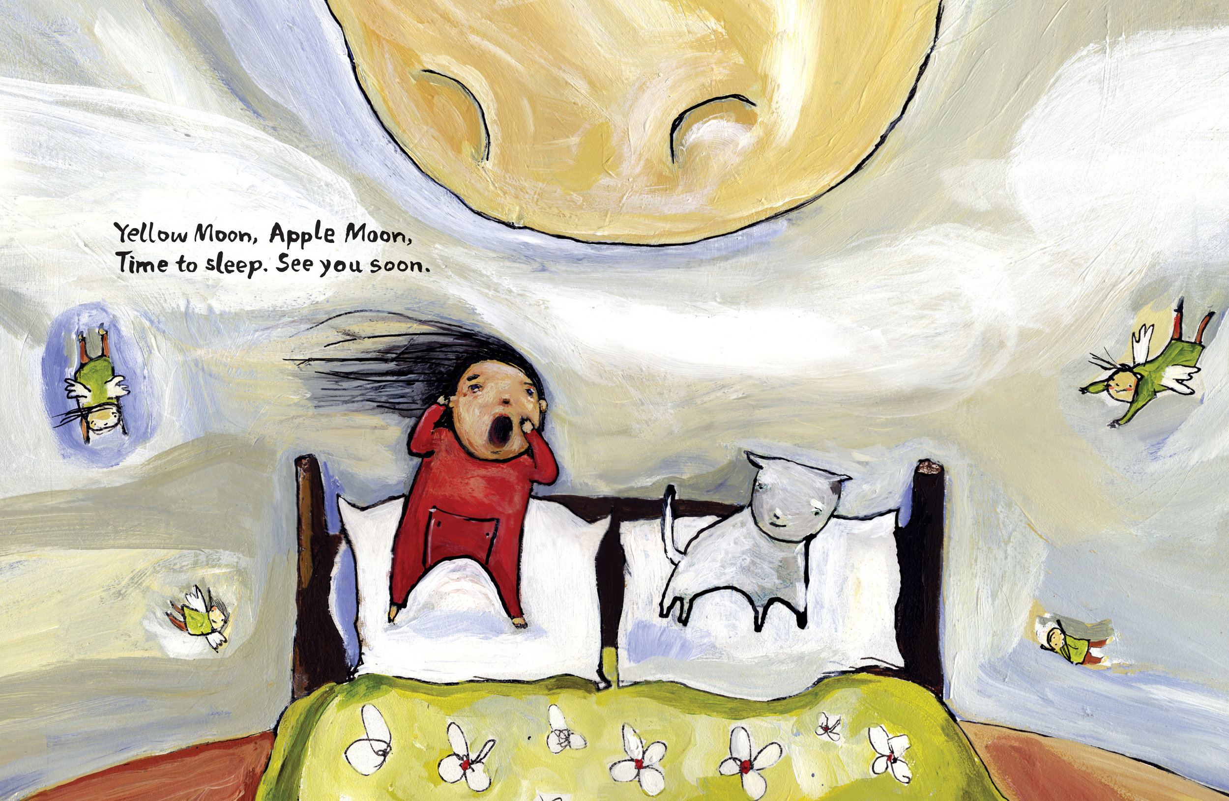 Yellow Moon, Apple Moon Written by Pamela Porter, Illustrated by Matt James