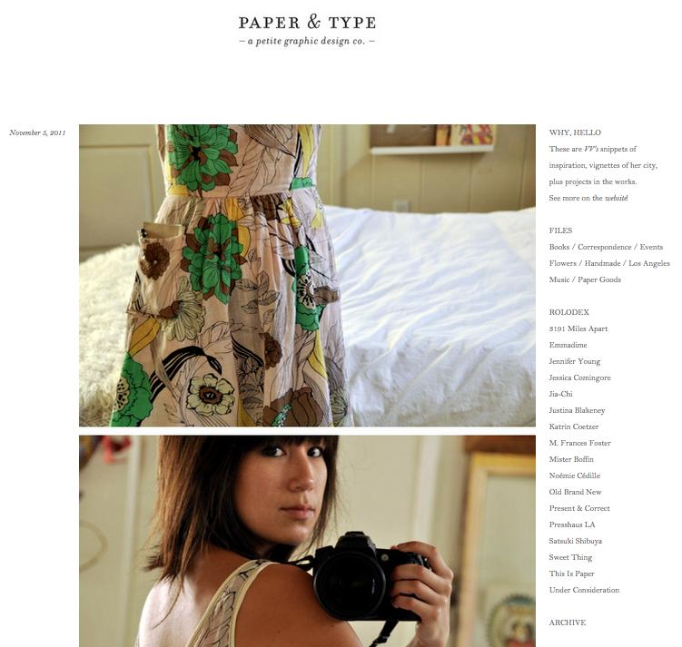Paper & Type Blog
