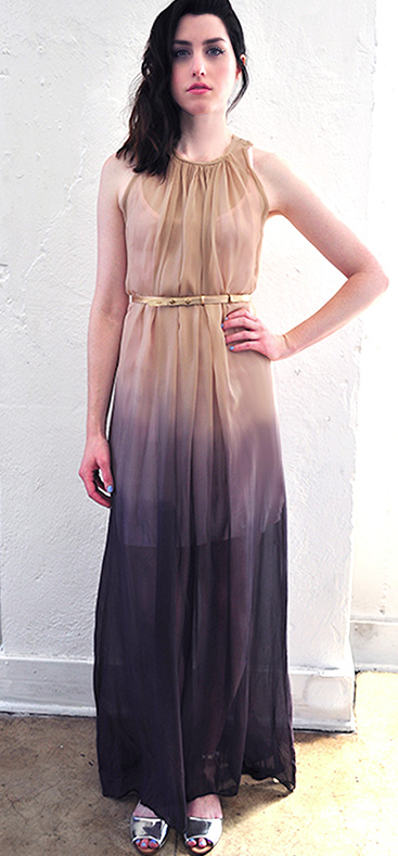 Awaken Ombre Dip dye dress jill aiko yee