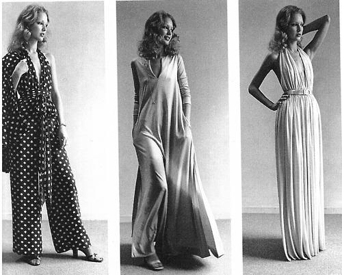 Designs draped by Halston