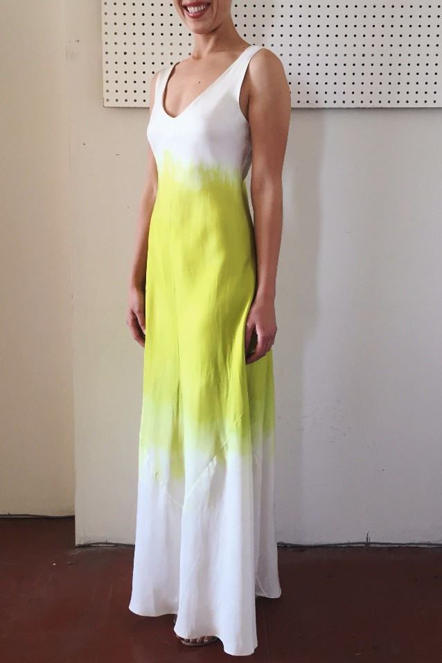 Siren Dress Jill Aiko Yee Silk Dip dye