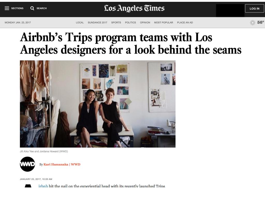 Los Angeles Times, LA Times, Air Bnb, Jill Aiko Yee