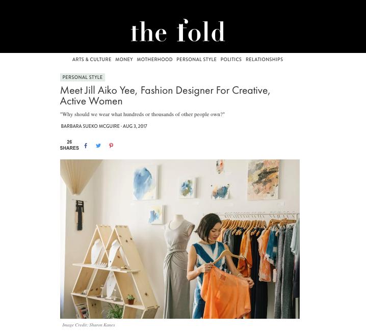 The Fold Magazine Barbara Sueko Jill Aiko Yee