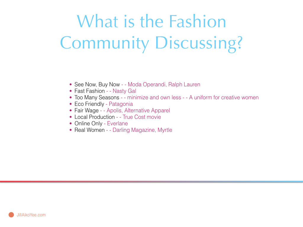 Poketo Fashion Design Jill Aiko Yee