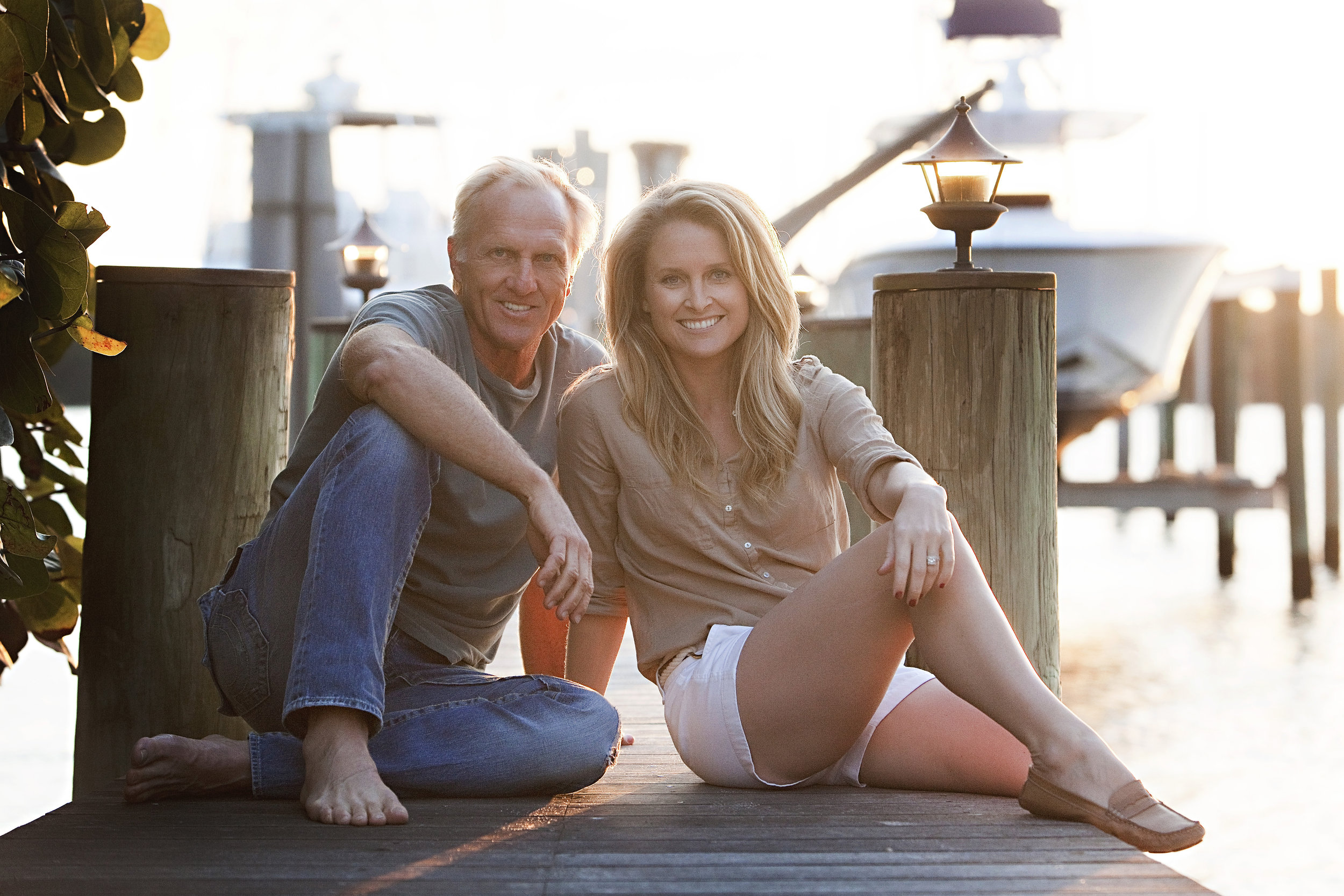 Greg Norman and daughter, Morgan.