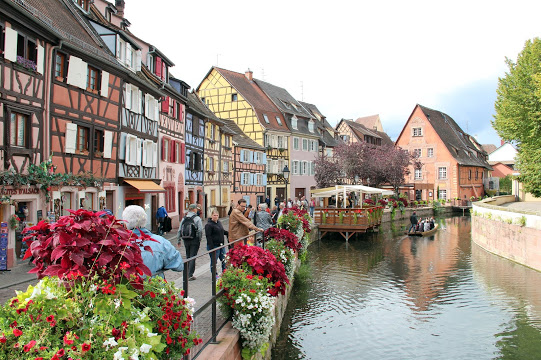 Colmar, the commercial center of Alsace.