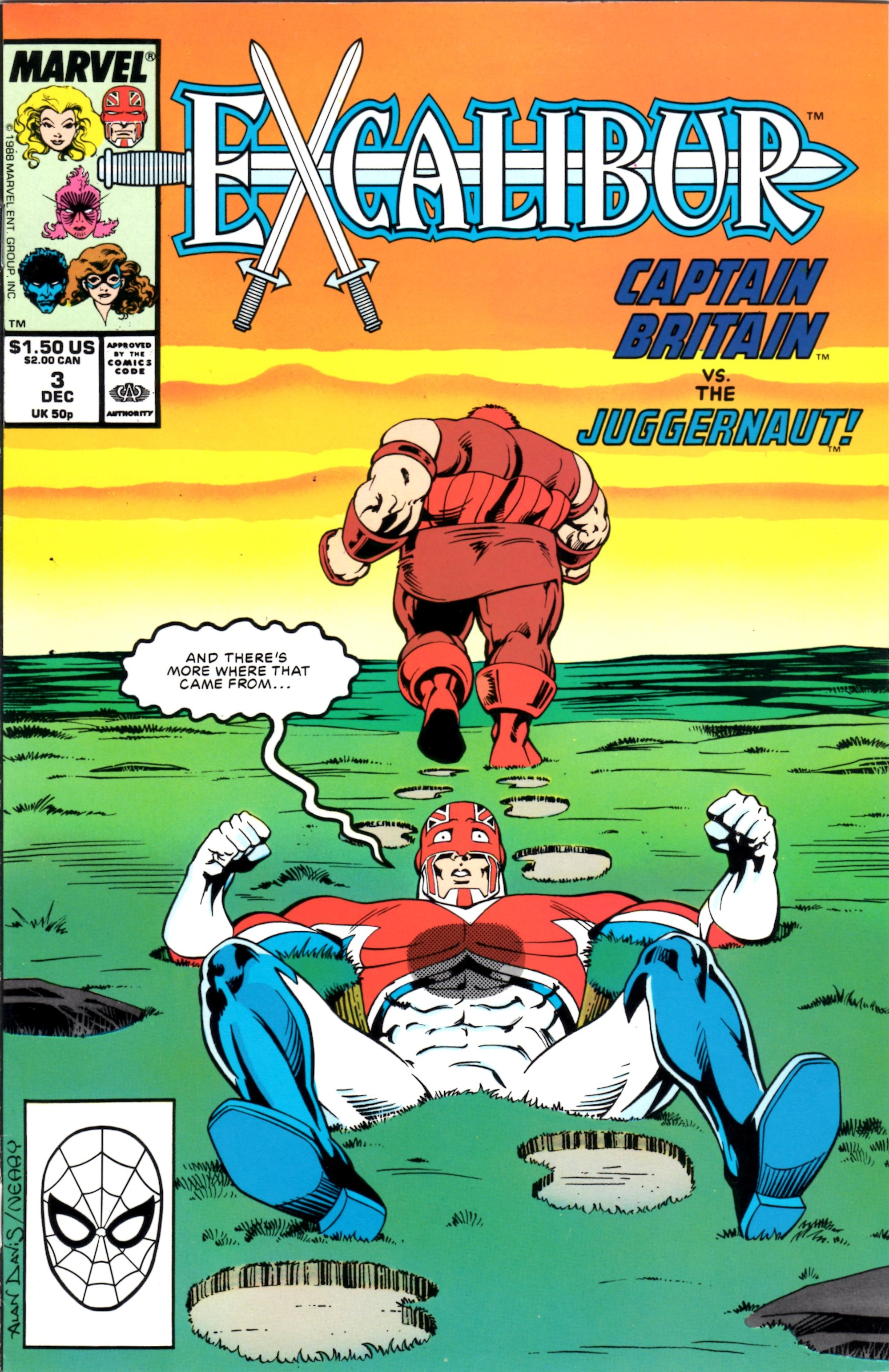 One of Alex Ogle's early inspirations from Marvel Comics - Excalibur cover art by the legendary Alan Davis.