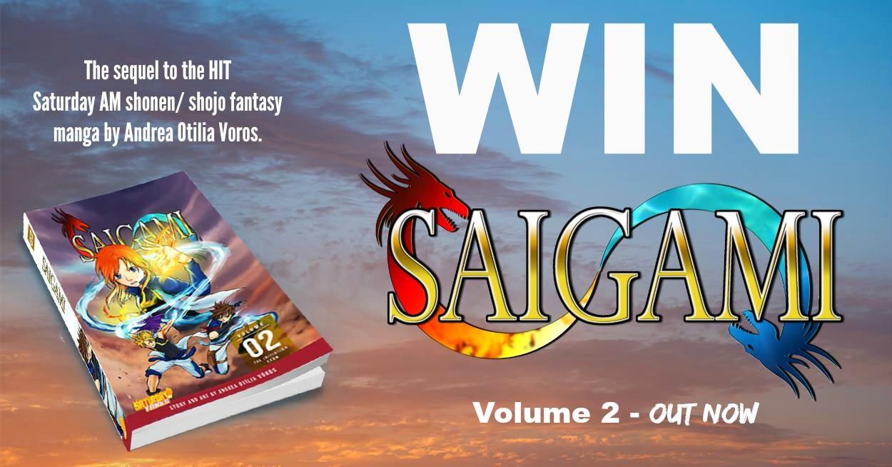 WIN Saturday AM's SAIGAMI Vol 2 by Andrea Voros!