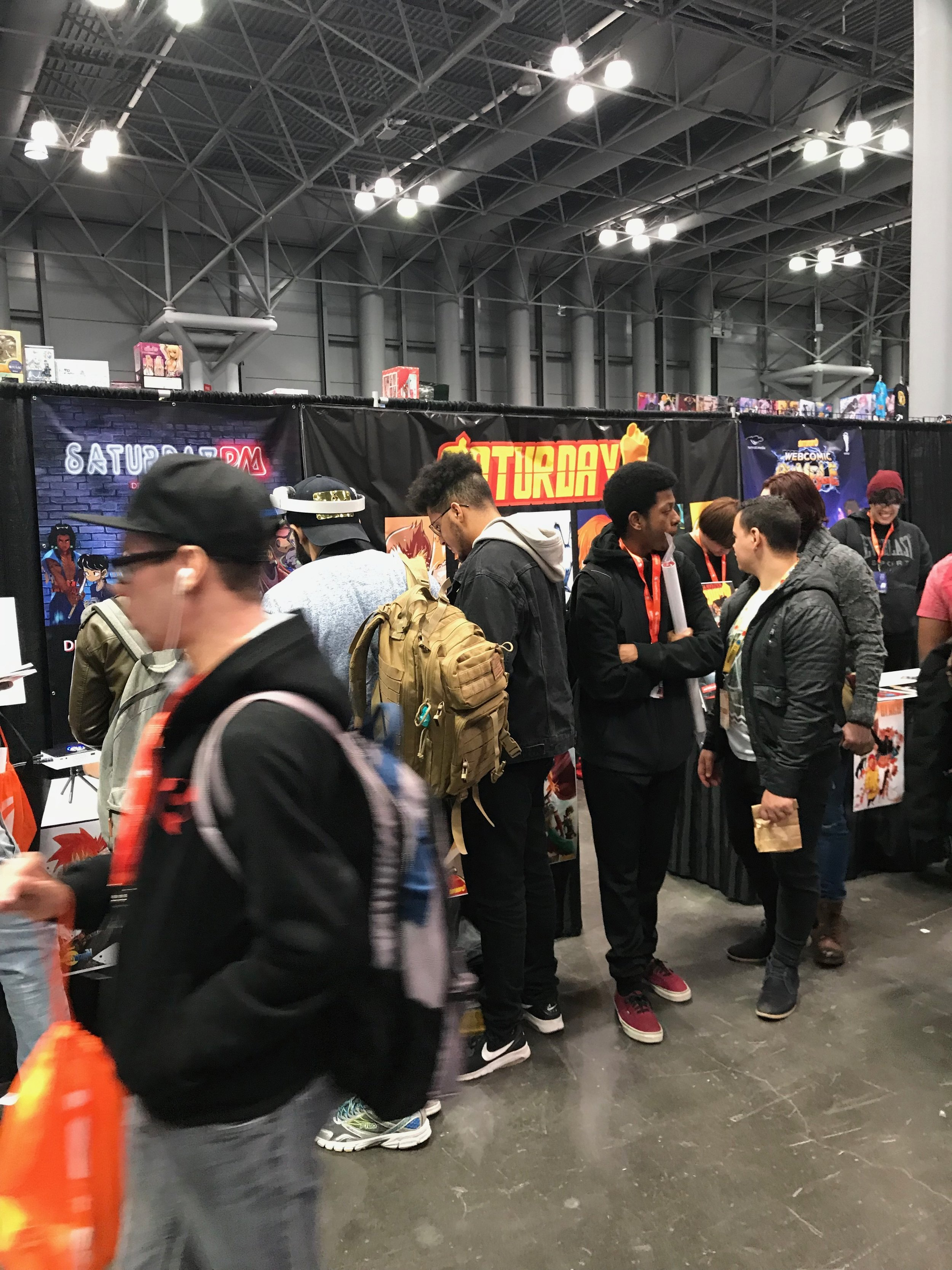Our ANIMENYC booth for Saturday AM was packed!