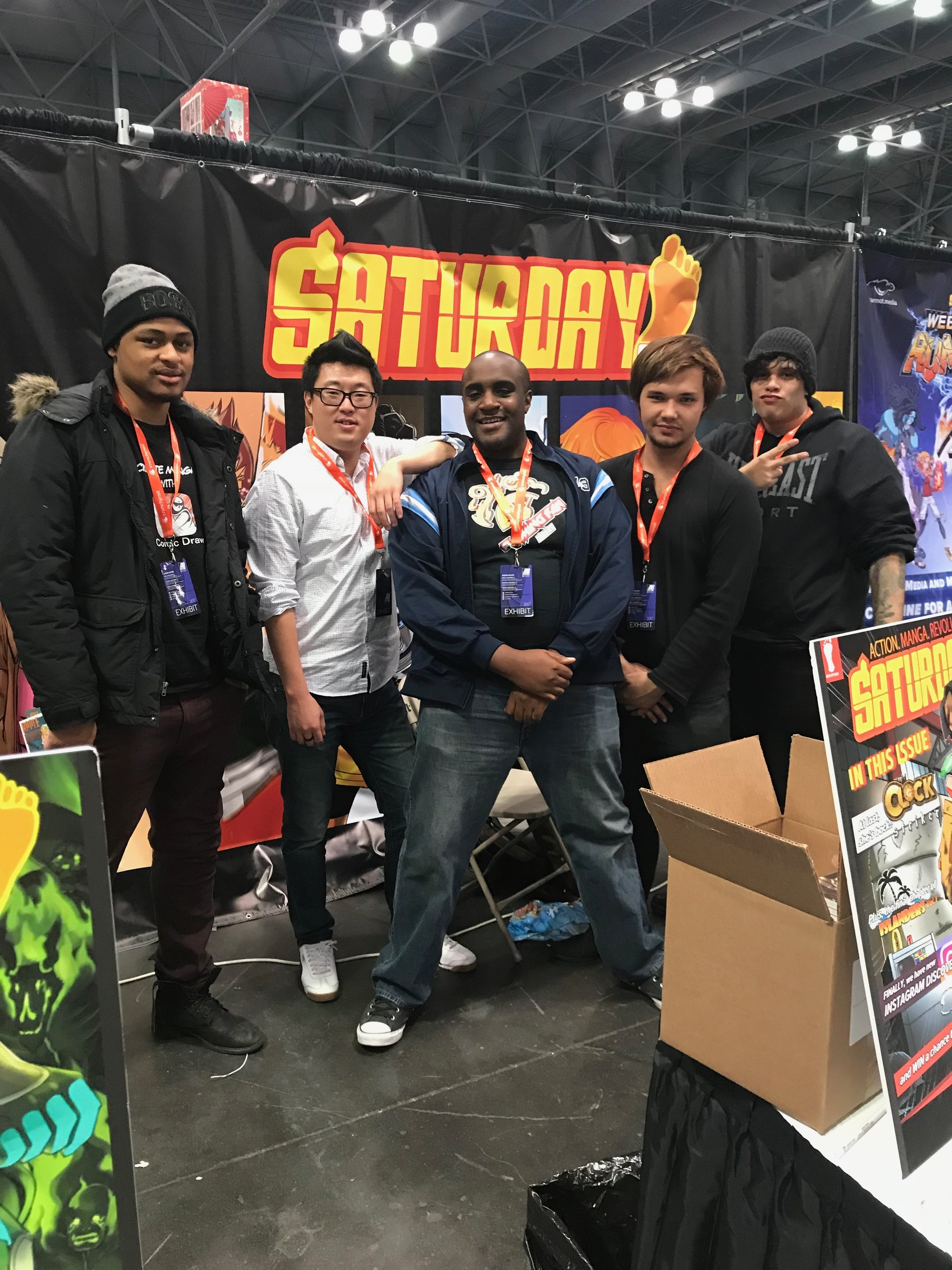 Saturday AM's crew was the coolest -- Whyt Manga, David Yoon, Raymond Brown, Jack Sherwin, and Jaime Molina!
