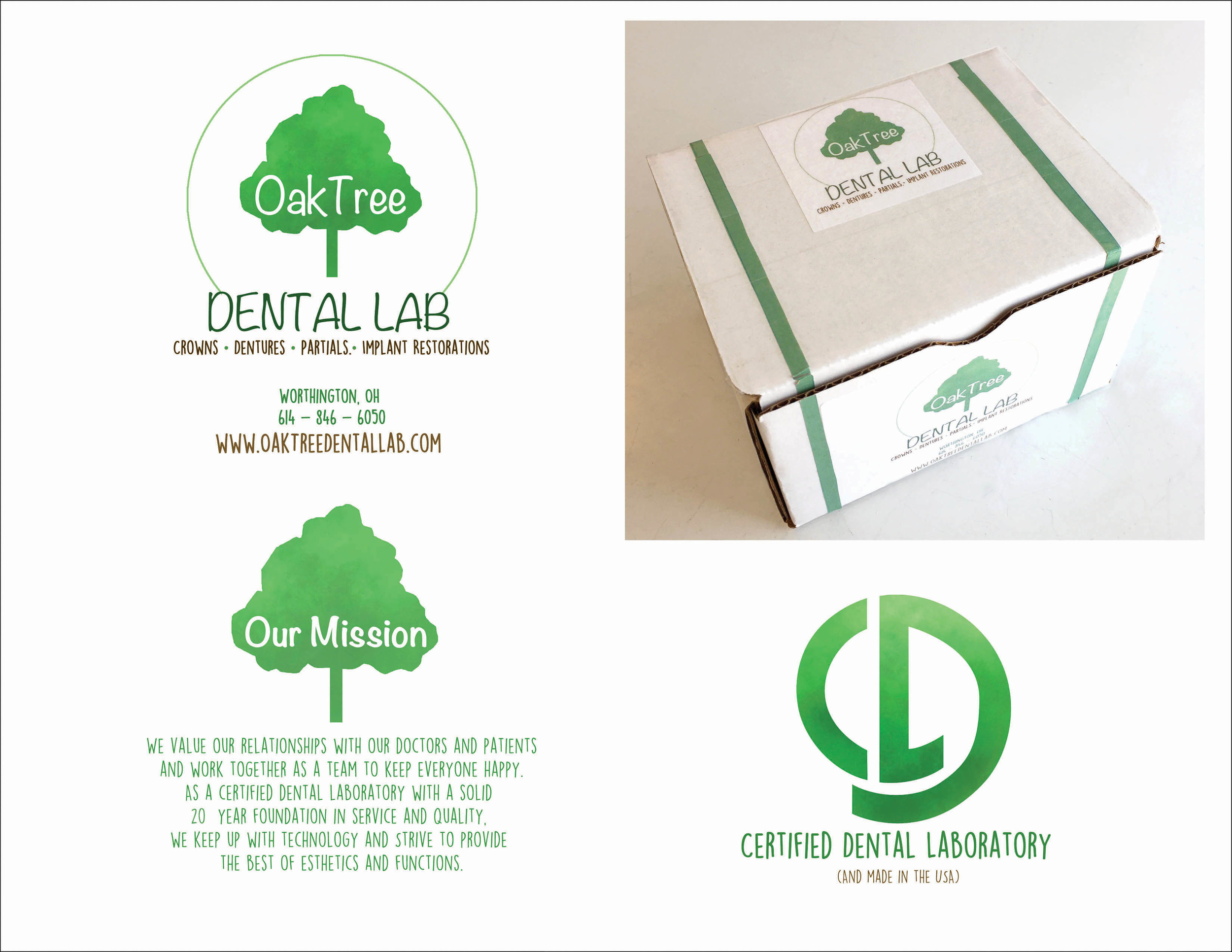 ReBranding Oak Tree Dental Lab
