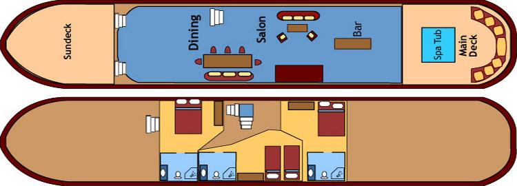 Roi Soleil Deck Plan
