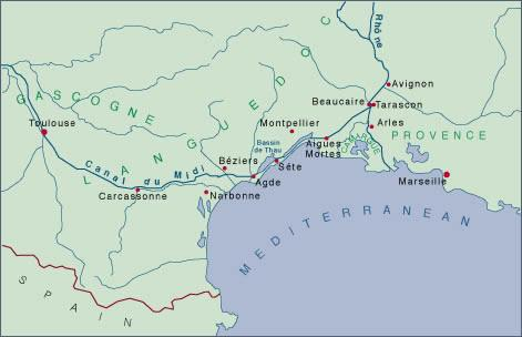 Map: Canal du Midi