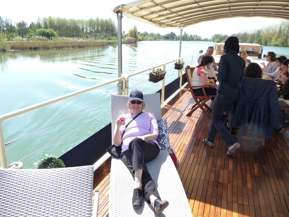 Enjoying the spacious deck