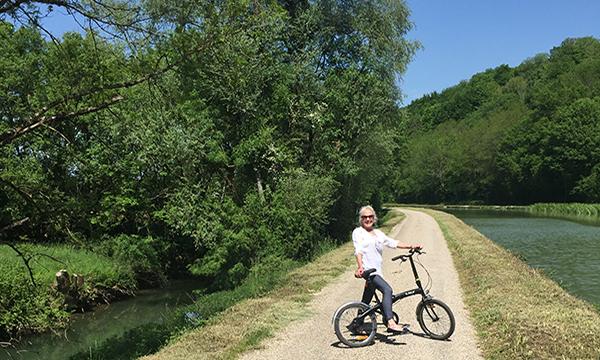 Biking on the towpath