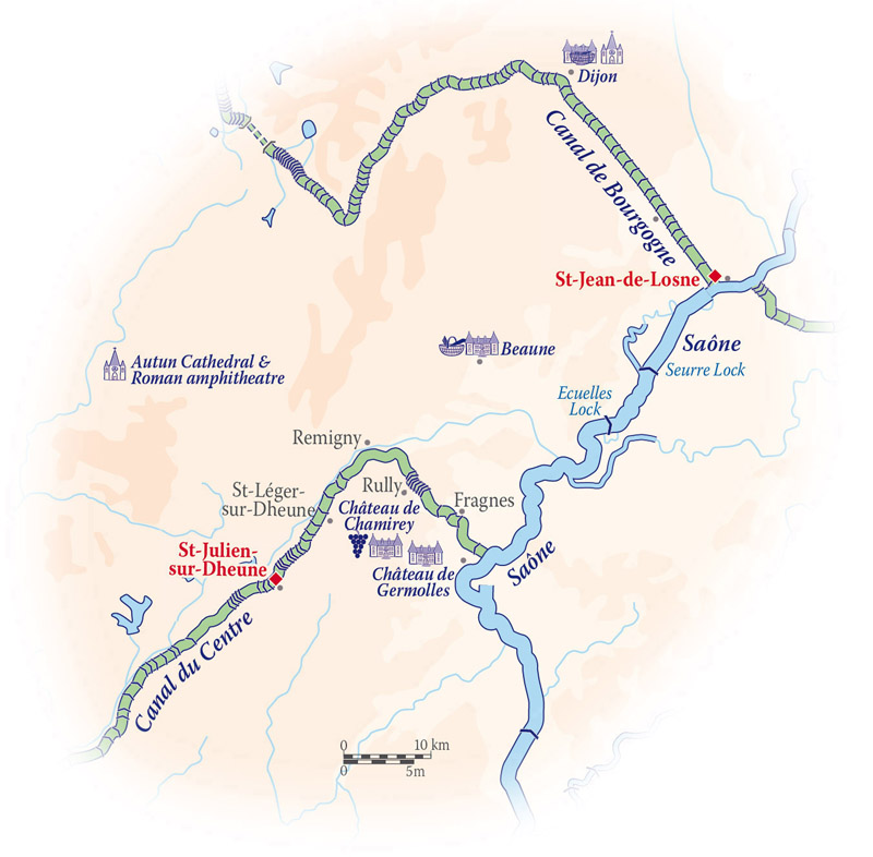 Finesse itinerary map