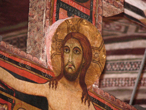 Romanesque period Rood Cross of San Damiano, notably associated with St. Francis of Assisi.