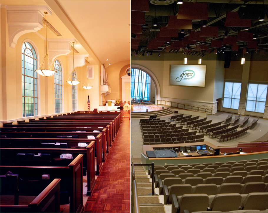 Tarrytown United Methodist Church  and  Grace Covenant Church .