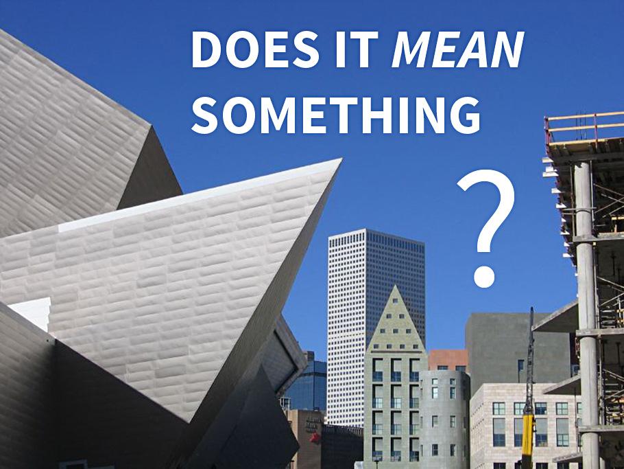 Denver's Art Museum & city skyline.