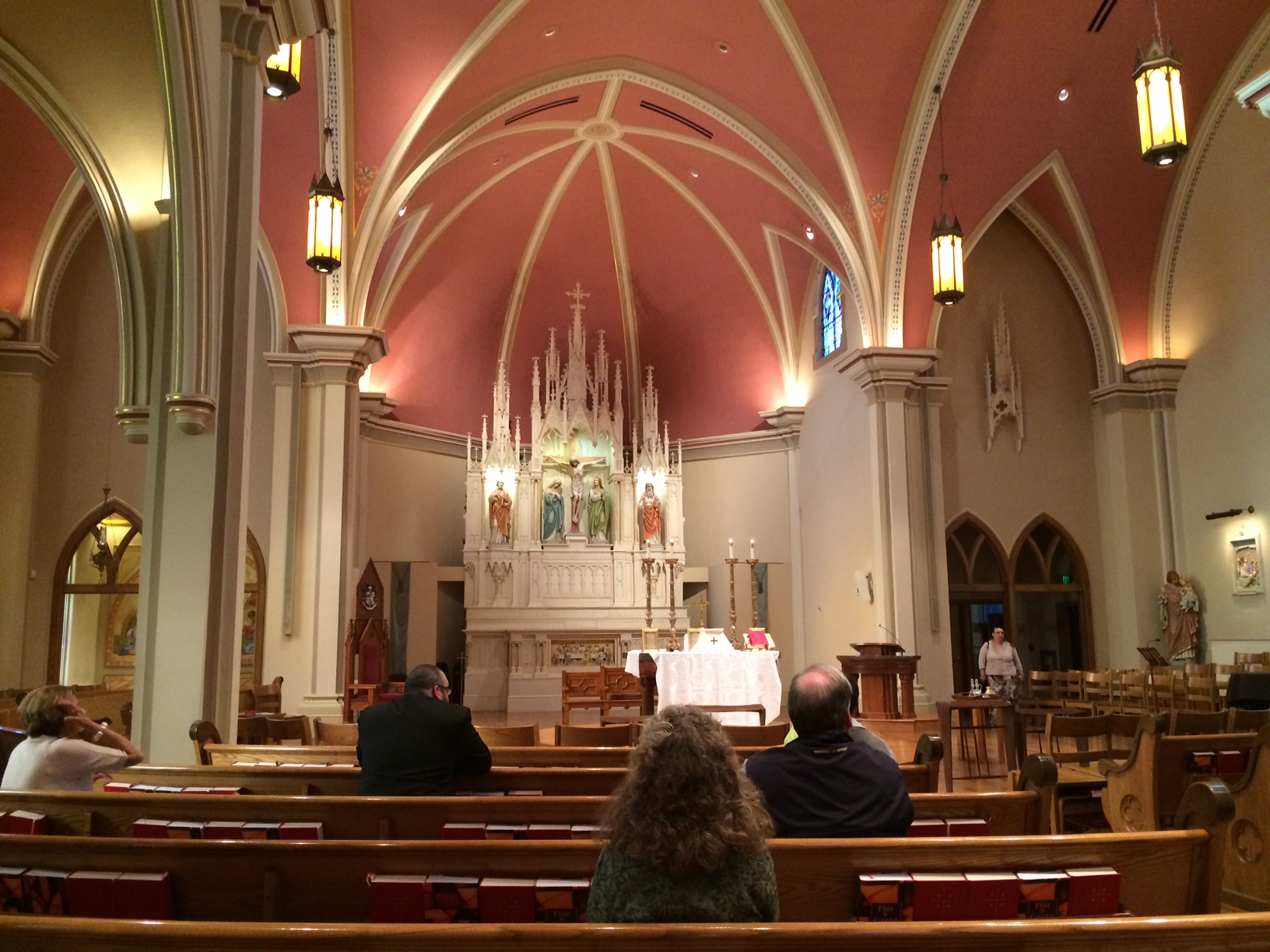 SCL Conference attendees pray prior to the celebration of daily Mass in the Extraordinary (Latin) Form at St. Mary's Cathedral in Colorado Springs.