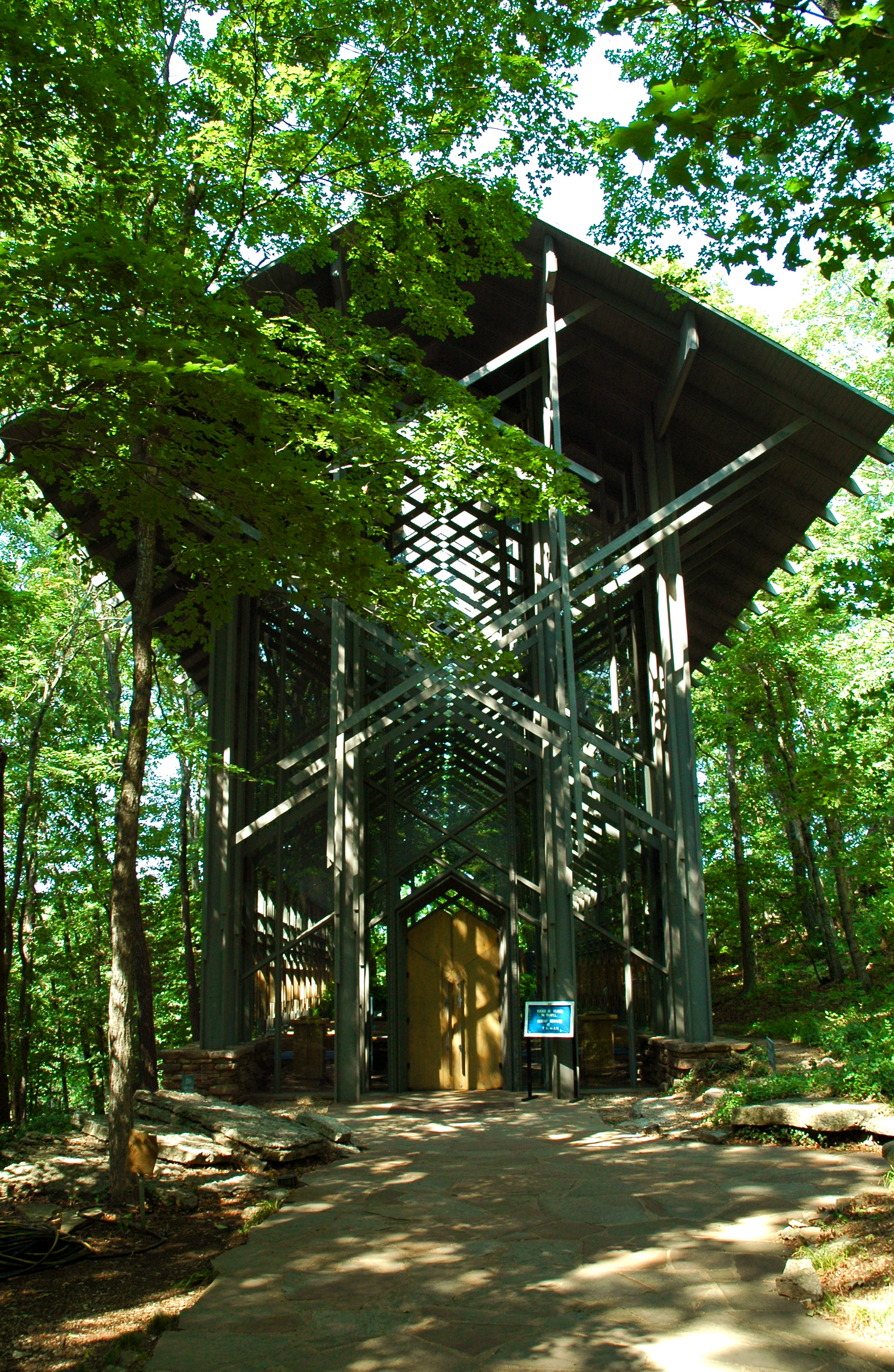 Thorncrown Chapel, designed by E. Fay Jones, FAIA