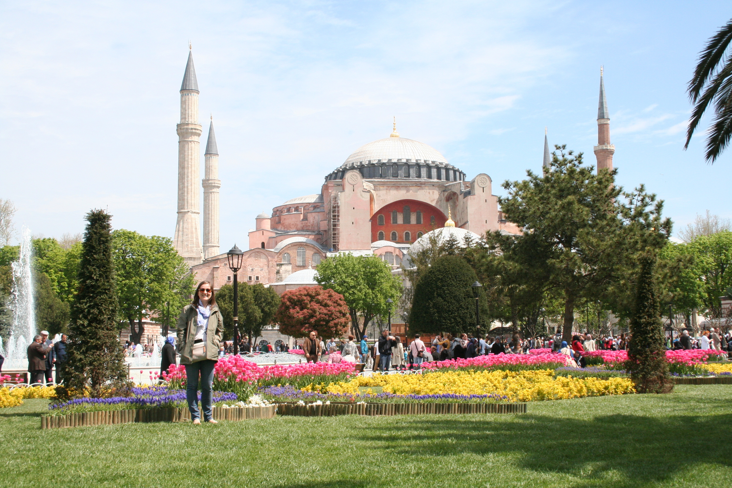 Me in Sultanahmet Park, looking towards the Hagia Sophia