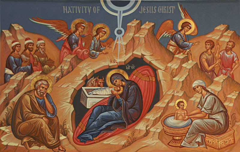 Icon of the Nativity at St. Paul Church in Dayton, OH. Painting by  Dmitry Shkolnik . Photo source:  Flickr