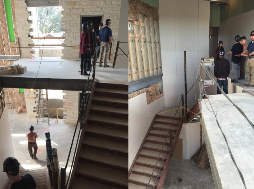 Stairwell to second floor off of main hallway