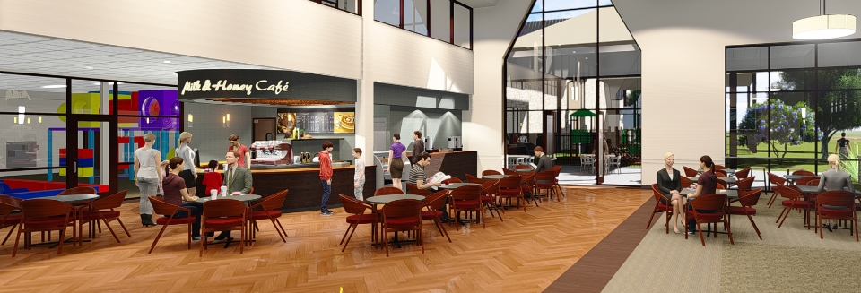 Austin Baptist Church saw significant ministry opportunity in an on-site coffee shop and has planned one as a primary component of their current expansion, expected to open in late 2016. More project info  here .