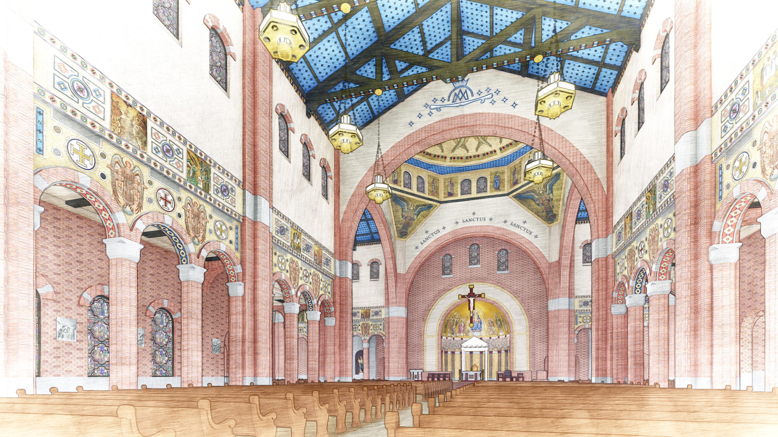 St. Mary's Church Conceptual Design photo as published in Texas Architect Magazine.
